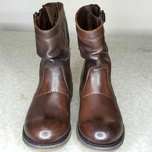 BIKKEMBERGS Brown Leather Boots